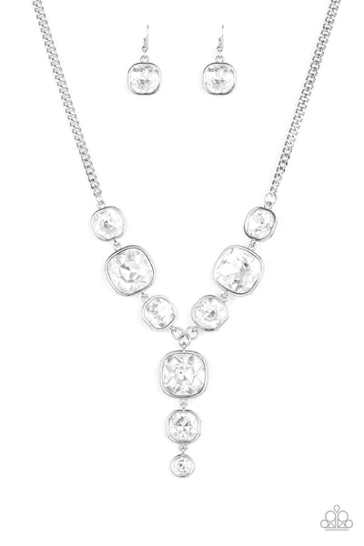Paparazzi Legendary Luster - White - 2020 Empower Me Pink Exclusive Necklace - A Finishing Touch