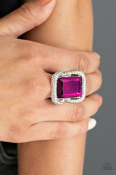 Paparazzi Deluxe Decadence - Pink Ring - A Finishing Touch