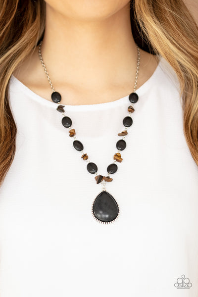 Paparazzi Desert Diva - Black Stone Necklace - A Finishing Touch