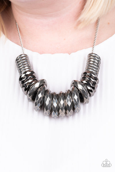 Paparazzi Haute Hardware - Silver Necklace - A Finishing Touch Jewelry