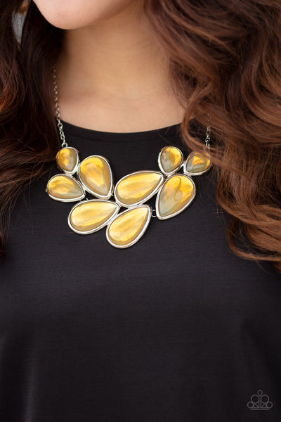 Paparazzi Iridescently Irresistible - Yellow Necklace - A Finishing Touch