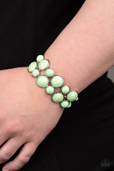 Paparazzi Confection Connection - Green Bracelet - A Finishing Touch