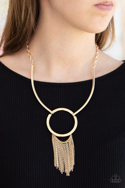 Paparazzi Pharaoh Paradise - Gold Necklace - A Finishing Touch Jewelry