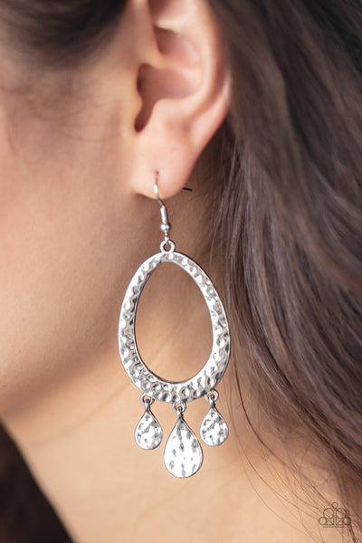 Paparazzi Taboo Trinket - Silver Earrings