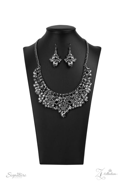 Paparazzi The Tina - 2020 Zi Collection Hematite Necklace - A Finishing Touch
