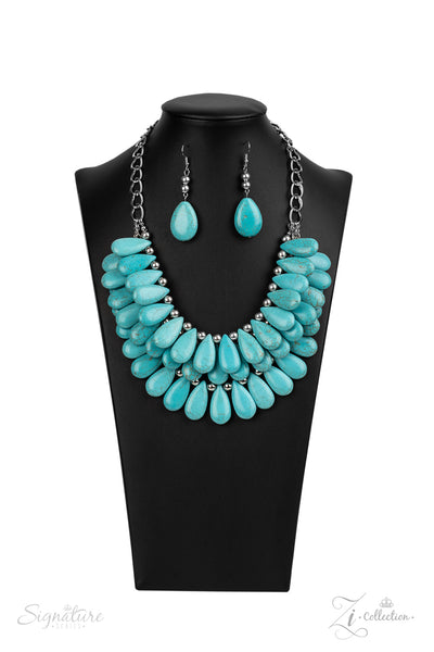 Paparazzi The Amy - 2020 Zi Collection Turquoise Necklace - A Finishing Touch