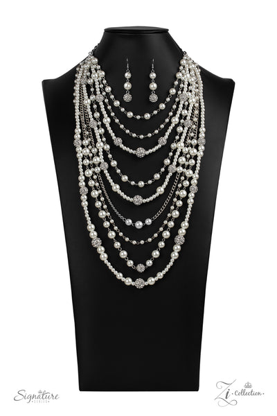 Paparazzi The  LeCricia - 2020 Zi Collection White Pearl Necklace - A Finishing Touch