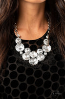 Paparazzi Unpredictable 2020 Zi Collection White Necklace - A Finishing Touch