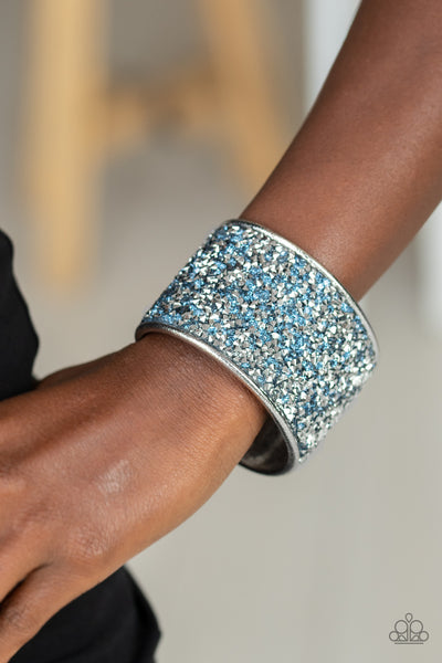 Paparazzi Stellar Radiance - Blue Bracelet - A Finishing Touch