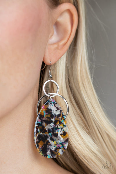 Paparazzi Two Tickets To Paradise - Multi Acrylic Earrings - A Finishing Touch Jewelry