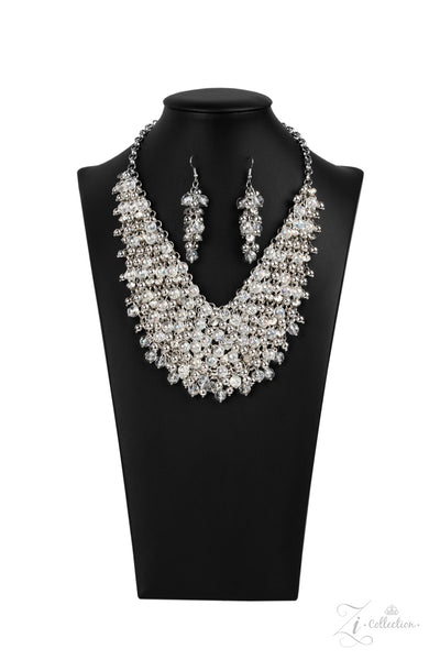 Paparazzi Sociable 2020 Zi Collection White Necklace - A Finishing Touch