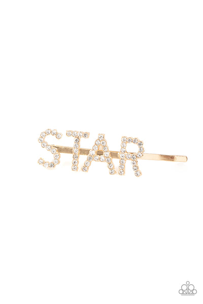 Paparazzi Star In Your Own Show - Gold Hair Clip - A Finishing Touch
