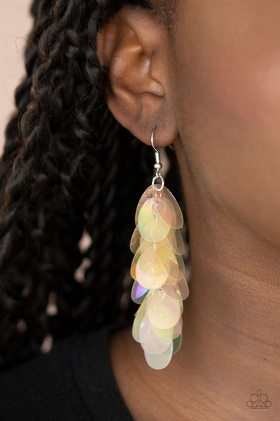 Paparazzi Stellar In Sequins - Multi Iridescent Earrings