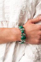 Paparazzi Celestial Escape - Green Bracelet - A Finishing Touch