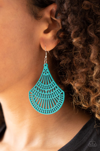 Paparazzi Tropical Tempest - Blue Earrings - A Finishing Touch