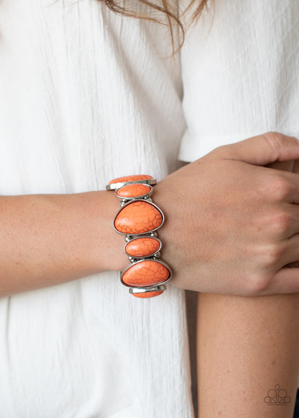 Paparazzi Feel At HOMESTEAD - Orange Bracelet - A Finishing Touch
