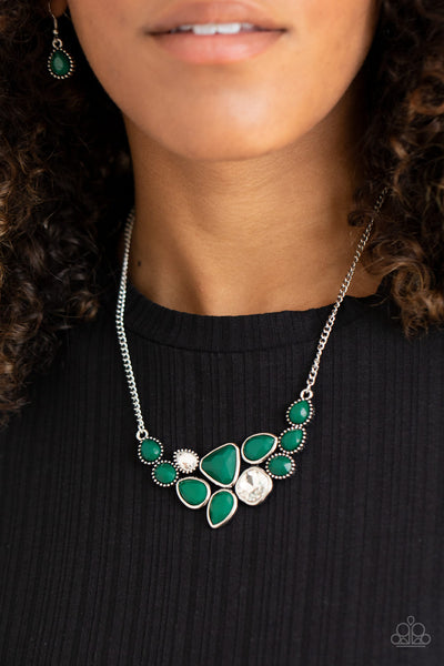 Paparazzi Breathtaking Brilliance - Green Necklace - A Finishing Touch