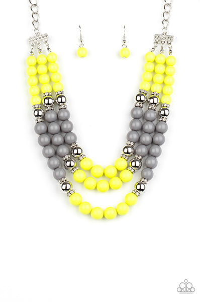 Paparazzi BEAD Your Own Drum - Yellow Necklace