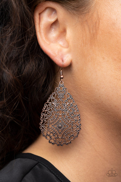 Paparazzi Napa Valley Vintage - Copper Antiqued Earrings