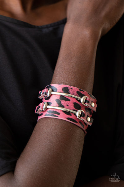 Paparazzi Safari Scene - Pink Bracelet - A Finishing Touch Jewelry