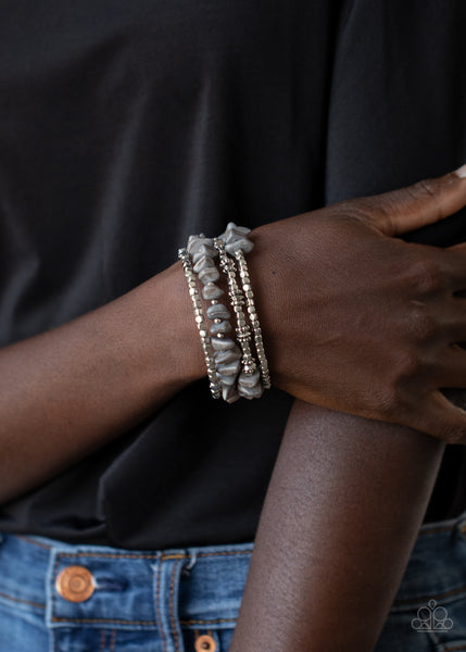 Paparazzi Rockin Renegade - Silver Bracelet - A Finishing Touch Jewelry