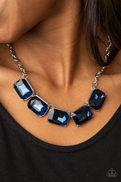 Paparazzi: Deep Freeze Diva - Blue Necklace - A Finishing Touch