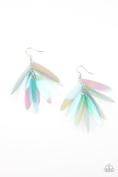 Paparazzi Holographic Glamour - Multi Earrings - A Finishing Touch