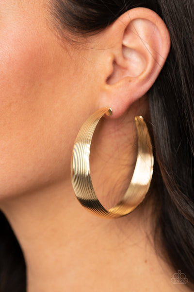 Paparazzi Desert Wanderings - Gold Earrings