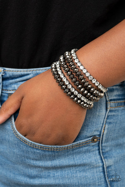 Paparazzi Best of LUXE - Black Bracelet - A Finishing Touch Jewelry