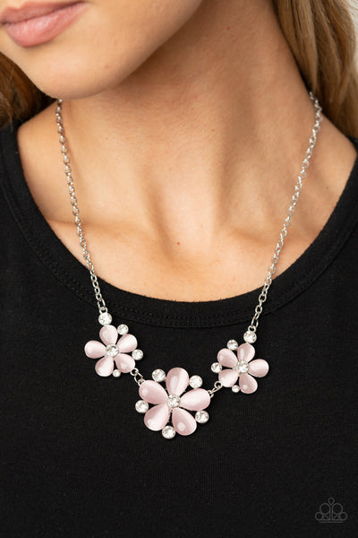 Paparazzi Effortlessly Efflorescent - Pink Necklace - A Finishing Touch Jewelry