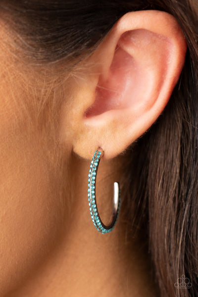 Paparazzi Dont Think Twice - Blue Earrings - A Finishing Touch Jewelry