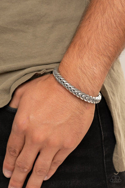 Paparazzi Tough as Nails - Silver Urban Bracelet - A Finishing Touch