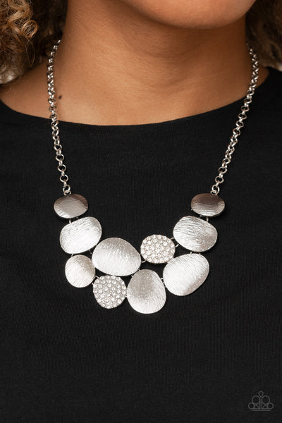 Paparazzi A Hard LUXE Story - White Necklace - A Finishing Touch