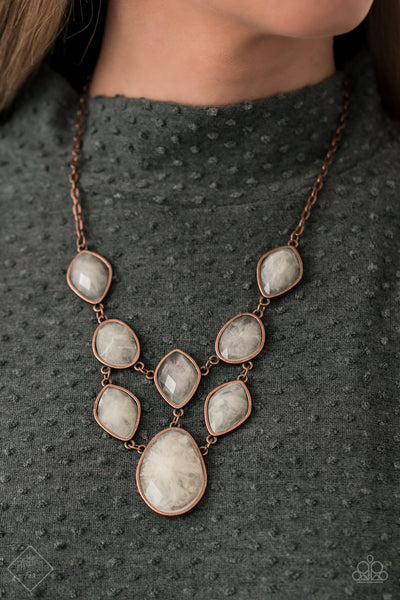 Paparazzi Opulently Oracle - Copper Necklace - A Finishing Touch