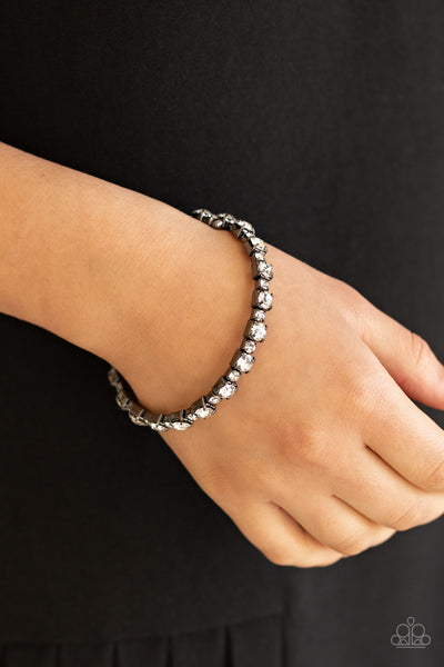 Paparazzi Photo Op - Black Bracelet - A Finishing Touch Jewelry