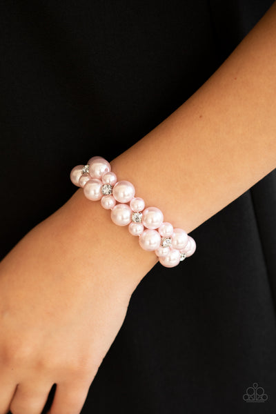 Paparazzi Flirt Alert - Pink Bracelet - A Finishing Touch Jewelry