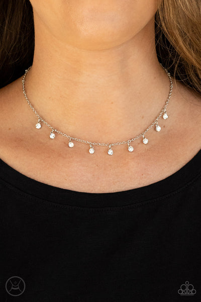 Paparazzi Dainty Diva - White Choker - A Finishing Touch Jewelry