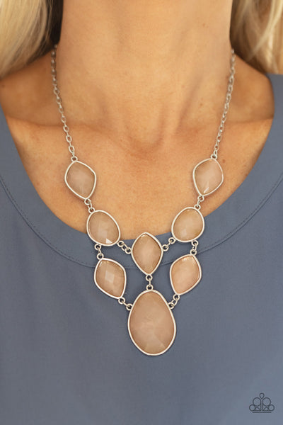 Paparazzi Opulently Oracle - Brown Necklace