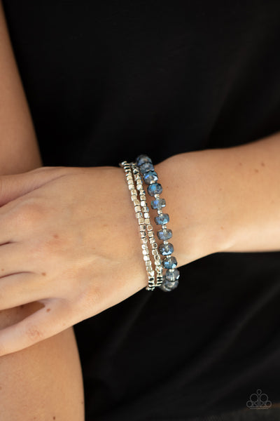 Paparazzi Celestial Circus - Blue Bracelet - A Finishing Touch Jewelry