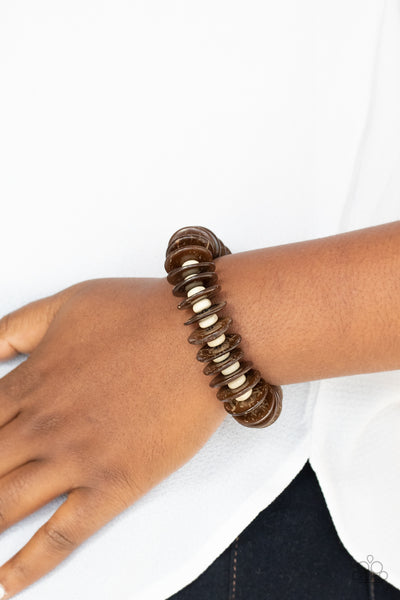 Paparazzi Caribbean Reefs - Brown Bracelet - A Finishing Touch Jewelry