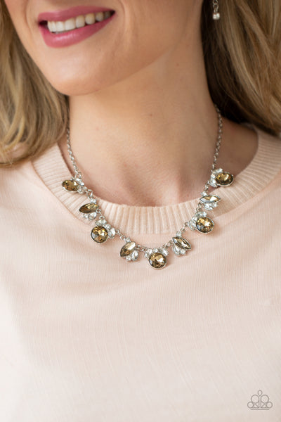 Paparazzi BLING to Attention - Brown Necklace - A Finishing Touch Jewelry