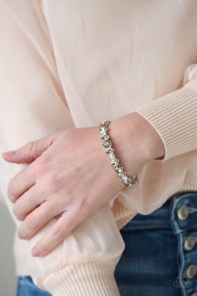 Paparazzi BLING Them To Their Knees - Brown Bracelet - A Finishing Touch Jewelry