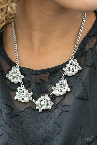 Paparazzi HEIRESS of Them All - White Necklace - A Finishing Touch Jewelry