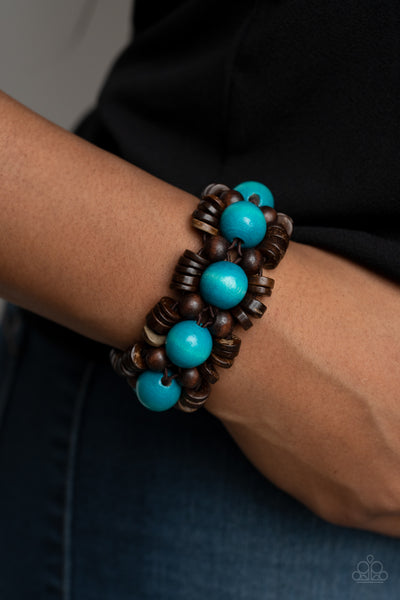 Paparazzi Tropical Temptations - Blue Bracelet - A Finishing Touch Jewelry