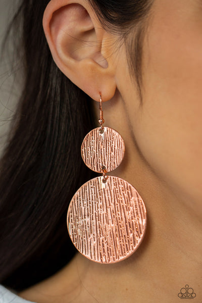 Paparazzi Status CYMBAL - Copper Earrings