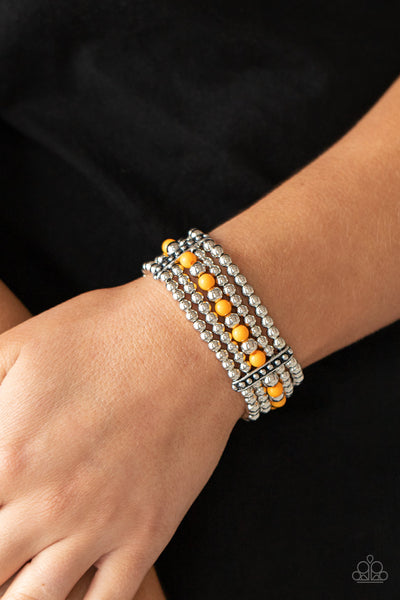 Paparazzi Gloss Over The Details - Orange Bracelet