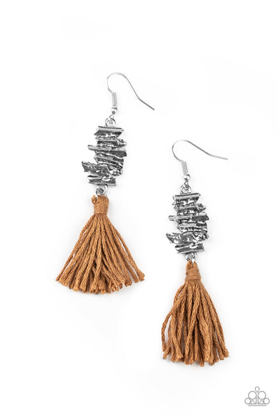 Paparazzi Tiki Tassel - Brown - A Finishing Touch
