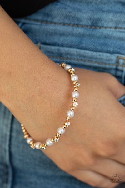 Paparazzi Decadently Dainty - Gold Bracelet - A Finishing Touch