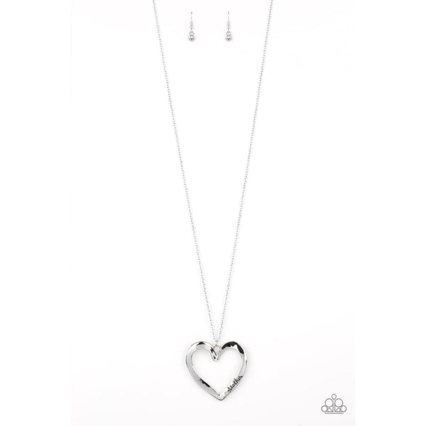 Paparazzi A Mothers Love - Silver Heart Necklace - A Finishing Touch