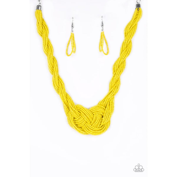 Paparazzi A Standing Ovation - Yellow Seed Bead Necklace - A Finishing Touch